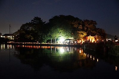 観月会 竹燈夜in妹背山
