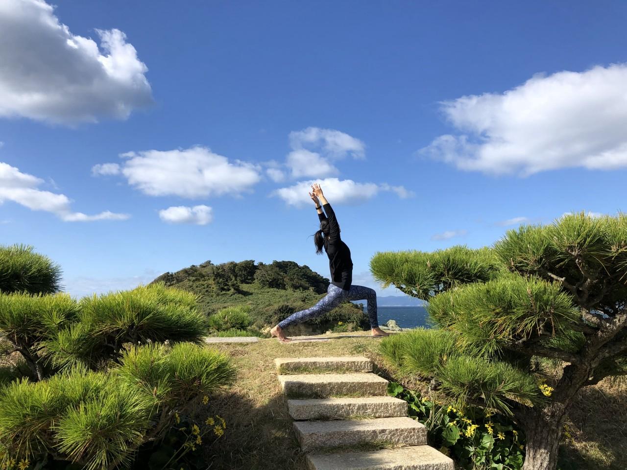 【温泉付き】番所庭園でヨガ体験